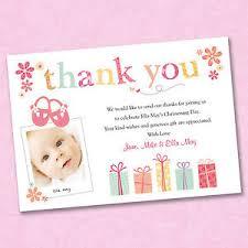 25 x personalised photo thank you cards christening baptism