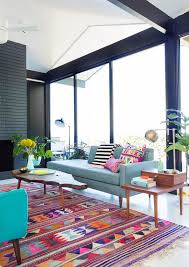 Modern Colorful Rugs Impressive Modern Bright Colored Area Rug Living Room Regarding
