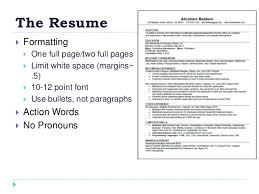 resume white space how to create a winning resume