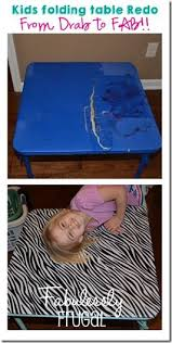 how big is a card table diy kid s folding table redo folding tables kids s and tutorials