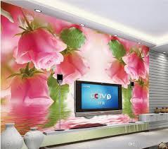 home decor wallpapers 3d room wallpaper custom photo romantic swan pink roses landscape
