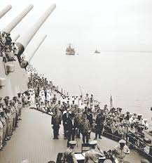 Flag Carrier Of Japan Altar Of Peace Symbolism At The Japanese Surrender Ceremony