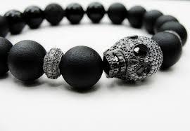 mens bracelet with skull images Mens onyx bracelet centerpieces bracelet ideas jpg