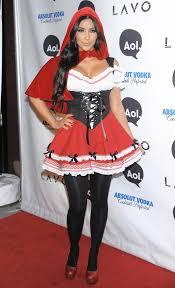 6 kim kardashian halloween looks 1 little red riding hood