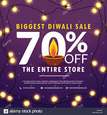 Discount Light Bulbs Diwali Festival Sale Discount And Offers Banner With Light Bulbs