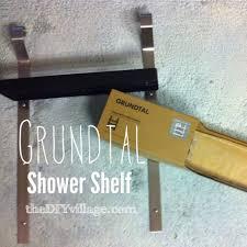 grundtal shower shelf ikea hack the diy village