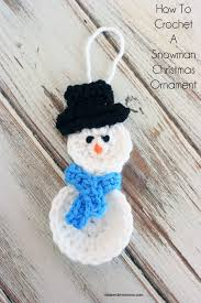 how to crochet a snowman ornament
