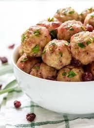cranberry turkey meatballs