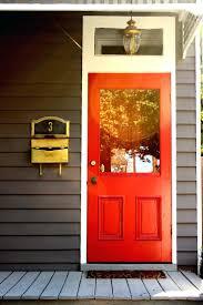 orange front doors door dark red colors paint with brick dark red