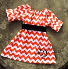 fall dress baby fall monogram dress orange