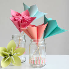 Origami 3d Flower Vase Make A Bouquet Of Beautiful Paper Flowers For Mother U0027s Day