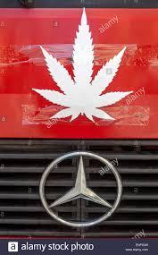 mercedes dashboard symbols symbol marijuana leaf mercedes star stock photo royalty free