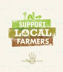 farm to table concept local food market from farm to table creative organic vector concept