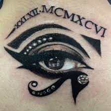 eye of ra with numerals tattoos by ash