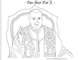 pope saint pius coloring august 21st u2013 catholic playground
