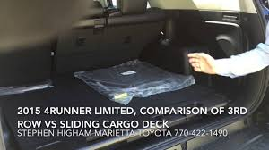 lexus suv 2015 third row new 2015 4runner comparing 3rd row seat to sliding cargo deck at