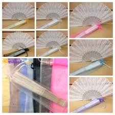 fan wedding favors 24 pc sparkle organza bags fans not included for fan only