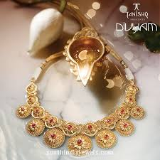 gold necklace collection images Gold necklace design from tanishq divyam collection south india jpg