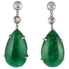 emerald drop emerald and diamond drop earrings