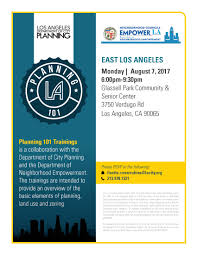 City Of Los Angeles Zoning Map by Attend A City Planning 101 Training City Of Los Angeles