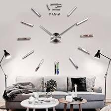 horloge murale cuisine 3d diy horloge murale moderne pendule pour décoration miroir salon