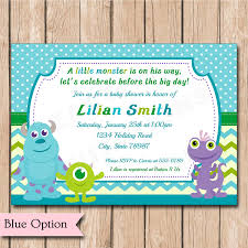 Baby Shower Invitation Cards Monster Inc Baby Shower Invitations Theruntime Com