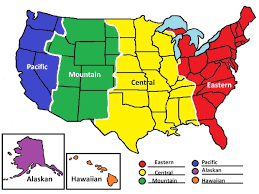 Time Zone Map World Clock by Current Dates And Times In Us States Map Time Zones In The United