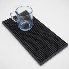 tapis cuisine noir 1 pcs 11 8 pouces rectangle caoutchouc bière bar service tapis