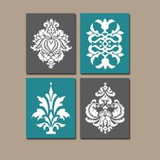 Damask Bathroom Accessories Shop Pictures For Bathroom Walls Teal On Wanelo