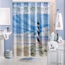 Nautical Bathroom Decor Ideas Seashore Themed Bathroom More Seashells Than Lighthouses Though