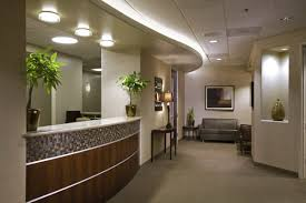 medical surgery clinic receptionist interior furniture with modern