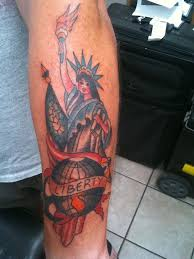 13 traditional statue of liberty tattoos