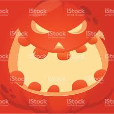cartoon vector monster pumpkin face cute square avatar and icon