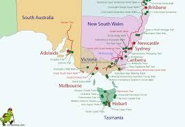 Australian Outback Map Australia
