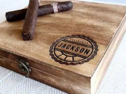 personalized box personalized cigar boxes unique groomsmen gifts swankybadger