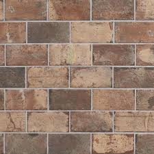 shop style selections broadmeadow brick 4 x 8 glazed porcelain