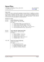 Economics Resume Resume Sara Pira Bi