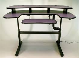 pc ergo cascade height adjustable desk with keyboard section