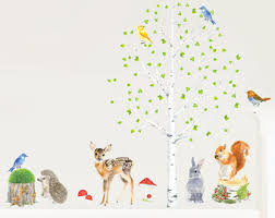 Fabric Wall Decals For Nursery Woodland Wall Decal Etsy