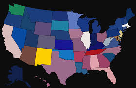 American State Flags Average Colour Hue Of Country U0026 Us State Flags Brilliant Maps