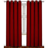 Burgundy Curtains Living Room Amazon Com Red Draperies U0026 Curtains Window Treatments Home