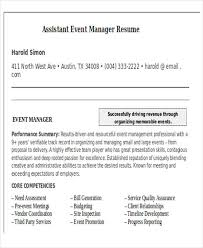 Events Manager Resume Sample by 42 Manager Resume Templates Free U0026 Premium Templates