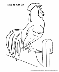 farm animals coloring page farm animal coloring pages printable chicken farm rooster