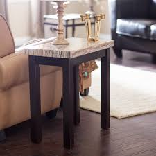 marble wood coffee table carmine faux marble chair side table hayneedle