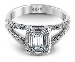 simon g engagement rings simon g split shank mosaic engagement ring mr2019 arden jewelers