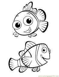 Finding Nemo Coloring 02 Coloring Page Free Finding Nemo Nemo Color Pages