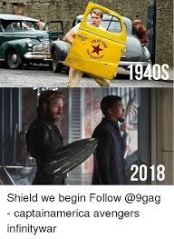 9gag Meme Maker - 1940s 2018 shield we begin follow captainamerica avengers