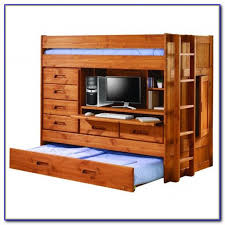 Loft Bunk Bed With Desk And Trundle Download Page  Home Design - Trundle bunk bed with desk