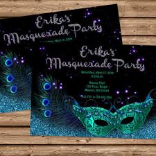 masquerade invitation mardi gras from partyprintexpress on