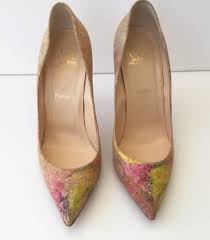 christian louboutin size 40 pigalle follies 100 cork blooming